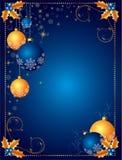 Fondo o tarjeta de la Navidad ilustración del vector