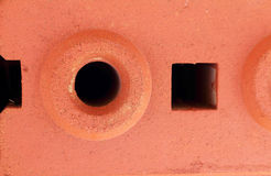 Fondo o textura de la pared del rojo de ladrillo Imagen de archivo libre de regalías
