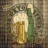 Fondo Oktoberfest della birra, Fotografia Stock
