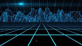 Fondo olográfico azul del movimiento del ambiente del espacio exterior stock de ilustración