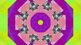 Fondo olográfico de la moda geométrica de la ciencia ficción del efecto del error del ordenador almacen de metraje de vídeo