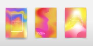 Fondo olográfico moderno de la hoja Diseño líquido del fondo del color La pendiente flúida forma la composición Carteles futurist ilustración del vector