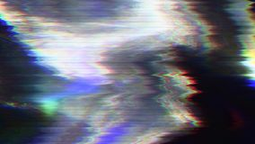Fondo olográfico multicolor de la moda del Cyberpunk que brilla intensamente Mún efecto de la TV metrajes