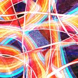 Fondo ondulado abstracto de los elementos Foto de archivo