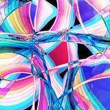 Fondo ondulado abstracto de los elementos Foto de archivo libre de regalías
