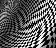 Fondo ondulado abstracto del ajedrez stock de ilustración
