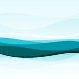 Fondo ondulado azul abstracto libre illustration