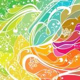 Fondo ondulado colorido Imagen de archivo