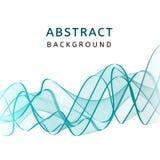 Fondo ondulado colorido transparente liso abstracto Movimiento curvado del flujo del azul y del verde Diseño de las ondas de la p Fotografía de archivo libre de regalías