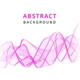 Fondo ondulado colorido transparente liso abstracto Movimiento rosado curvado del flujo Diseño de las ondas de la pendiente del h Imagen de archivo