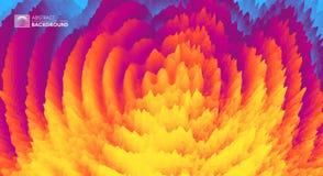 fondo ondulado 3D con efecto dominó ejemplo abstracto del vector Modelo del diseño libre illustration