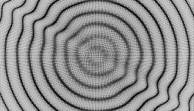 fondo ondulado 3D con efecto dominó Ejemplo del vector con la partícula ilustración del vector