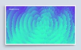 fondo ondulado 3D con efecto dominó Plantilla del diseño de la cubierta Ilustración del vector El modelo se puede utilizar como p ilustración del vector