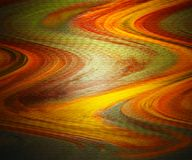 Fondo ondulado de la fantasía Cepille el arte de los movimientos Arte flúido brillante y hermoso de los colores Opinión del paisa ilustración del vector