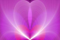 Fondo ondulado que brilla intensamente rosado ilustración del vector