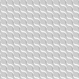 Fondo ondulato astratto grigio 3D-like Vector il reticolo senza giunte Immagine Stock