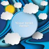 Fondo ondulato blu del cielo royalty illustrazione gratis