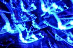 Fondo ondulato blu delle luci Fotografia Stock Libera da Diritti