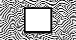Fondo ondulato casuale in bianco e nero illustrazione di stock