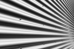 Fondo ondulato del metallo, tono d'argento, grande per progettazione fotografia stock