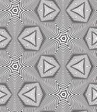 Fondo op in bianco e nero di Art Design Vector Seamless Pattern Fotografie Stock Libere da Diritti