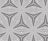 Fondo op in bianco e nero di Art Design Vector Seamless Pattern Immagini Stock Libere da Diritti
