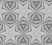 Fondo op in bianco e nero di Art Design Vector Seamless Pattern Fotografia Stock Libera da Diritti