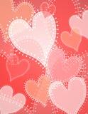 Fondo opaco de los corazones de la corrección del edredón Foto de archivo libre de regalías