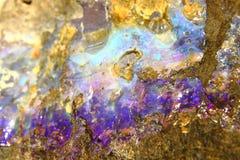 Fondo opalino minerale Fotografie Stock