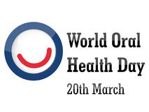 Fondo orale di giorno di salute del mondo Fotografia Stock Libera da Diritti