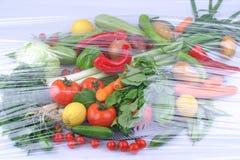 Fondo organico e asiatico delle verdure Cibo sano fotografia stock