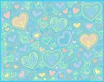 Fondo original de la forma del corazón del dibujo de la mano libre illustration