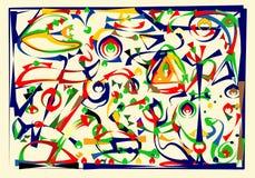 Fondo orizzontale blu astratto, ispirato dal pittore surrealista Fotografia Stock