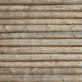 Fondo orizzontale colorato naturale di ceppo parete di legno della cabina della vecchia Immagine Stock Libera da Diritti