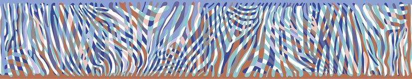 Fondo orizzontale con la pelle variopinta della zebra Fotografia Stock