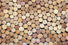 Fondo orizzontale dei sugheri del vino Fotografia Stock Libera da Diritti