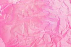 Fondo orizzontale di struttura di rosa, carta inceppata fotografia stock