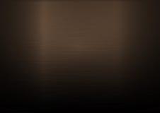 Fondo orizzontale metallico di rame spazzolato Fotografie Stock