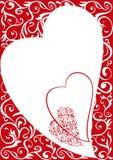 Fondo ornamental de la tarjeta del día de San Valentín libre illustration