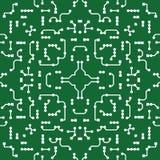 Fondo ornamental en estilo de la PWB-disposición ilustración del vector
