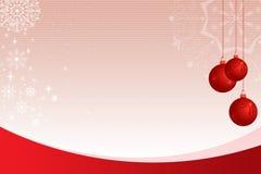Fondo ornamentale con la bolla rossa Fotografia Stock