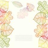 Fondo ornamentale con le foglie di autunno di arte Illustrazione di Stock