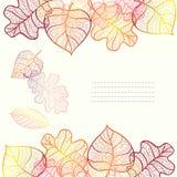 Fondo ornamentale con le foglie di autunno di arte. Royalty Illustrazione gratis