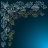 Fondo ornamentale con le foglie di autunno di arte. Illustrazione di Stock