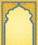 Fondo ornamentale di arte nel colore dell'oro illustrazione vettoriale