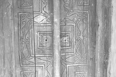 Fondo ornamentale di legno astratto della porta Fotografia Stock Libera da Diritti