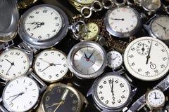Fondo-orologi Fotografia Stock