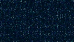 Fondo oscuro abstracto del código binario Espacio cibernético libre illustration
