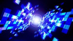 Fondo oscuro azul de la tecnología del extracto con la reflexión de formas rectangulares y de la estrella libre illustration
