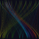 Fondo oscuro colorido con las ondas abstractas, líneas Fotos de archivo